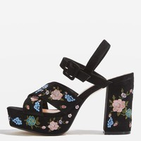 MARIGOLD Embroidered Platforms - New In Fashion - New In