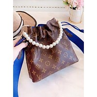 Louis Vuitton LV New Fashion Monogram Print Shopping Leisure Pearl Handbag Shoulder Bag Women Bucket Bag