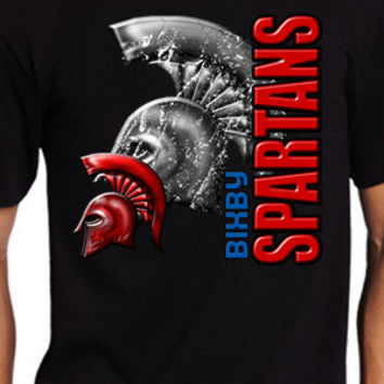 Bixby Spartans Vertical T-Shirt