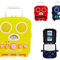Retro Vintage Vibe Portable Music Radio in 3 Colors