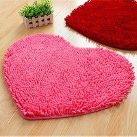 Heart Anti-skid Carpet Bathroom Floor Mat [6268417862]