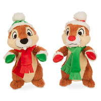 disney parks holiday christmas chip and dale plush toys new with tags