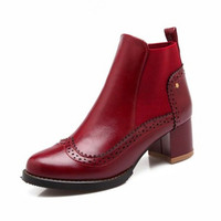 woman soft leather England styel martin boots
