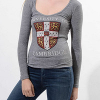 University Of Cambridge Long Sleeve T (Urban Outfitters)