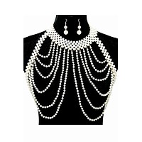 faux vest shoulder body chain celebrity swimsuit bathing suit earrings