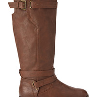 FOREVER 21 Knee-High Riding Boots Brown 8