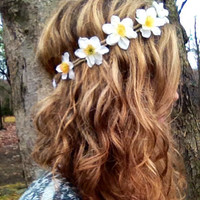 Flower Headband White Flower Headband Daisy Headband Hair Accessories Women Flower Crown Music Festival Festival Accessories