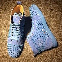 Christian Louboutin CL Louis Spikes Style #1900 Sneakers Fashion Shoes Online
