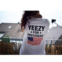 Yeezy For President T-Shirt - White/Black