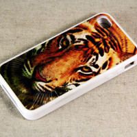 Tiger Style iPhone 4 iPhone 4S Case, Rubber Material Full Protection