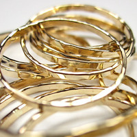 Single Thin Ring- 14 kt Gold Filled Stack Ring- Simple Ring- Relationship Ring