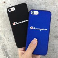Champion Printed Matte Cover Case For Iphone 7 7Plus & 6 6s Pus &5 5s