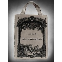 Gothic Lolita Handbag Lewis Carroll Alice In Wonderland Book Shape Handbag