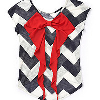 Moa Moa Chevron Bow-Back Top -