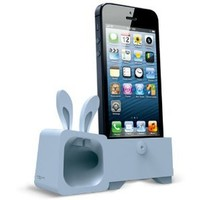 Amazon.com: Ozaki OM936RA Zoo Rabbit Stand and Amplifier for iPhone 5 - Carrier Packaging - Blue: Cell Phones & Accessories