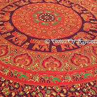 COR's Twin Elephant Mandala Tapestry Hippie Wall Tapestries Tapestry Wall Hanging Brown Indian Tapestry Bohemian Bedding Psychedelic tapestry Beach Throw Picnic Sheet Size 60 x 85 Inch's