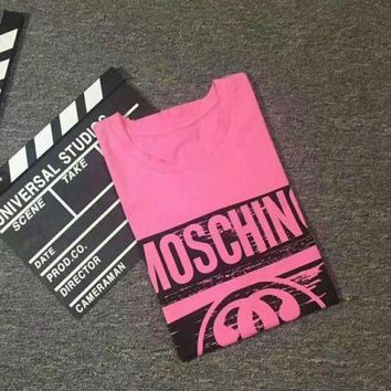 Moschino 2018 new men's and women's casual casual loose T-shirt F/A