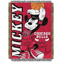 Chicago Bulls NBA Mickey Tapestry Throw (48inx60in)