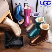 UGG hot seller of stylish, solid-colored mid-leg women's casual uggs with wool boots