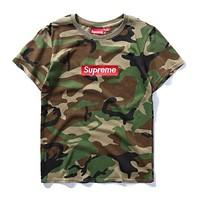 SUPREME FASHION CASUAL WOMEN MEN HIGH QUALITY PRINT SHORT SLEEVE T-SHIRT TOP I