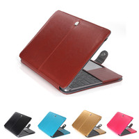 Fashion Leather Sleeve Case For Macbook Air 11 Air 13 Pro 13 Pro 15, Shell Cover Bag For Laptop for Mac Laptop Cases