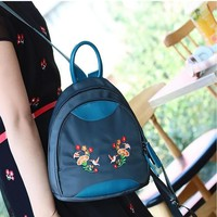 New Arrival Fashionable Oxford Women Backpack Korean Style All-match Casual Backpack Delicate Embroidery Mini Backpack For Youth