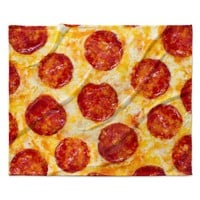 "KESS Original ""Pizza My Heart"" Pepperoni Cheese Fleece Throw Blanket"