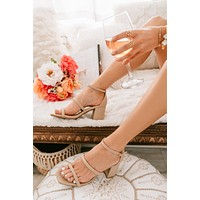 Nice Try Rounded Strap Heels (Nude)