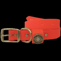"""The Water Dog"" DuraHide Collar in Blaze Orange by Over Under Clothing"