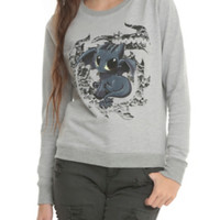 How To Train Your Dragon Toothless Girls Pullover Top