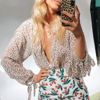 Sexy Floral Print Women Tops and Blouses Long Sleeve Boho Chiffon Ladies Shirt 2019 Casual Streetwear