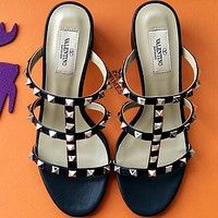 Valentino  Women Fashion Simple Casual   Heels Shoes