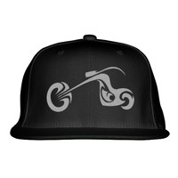 Motorcycle Embroidered Snapback Hat
