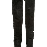 Steve Madden Gorgeous Black Suede Over the Knee Boots