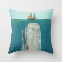 The Whale  Throw Pillow by Terry Fan
