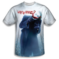 Batman Dark Knight Joker Why So Serious Sublimation Mens T-Shirt