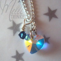 Melli's Trinkets | Crystal Heart Necklace | Online Store Powered by Storenvy