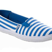 Corkys Anchor Blue Striped Slip-On Shoes