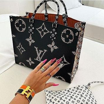 LV Louis Vuitton Onthego Tote Bag Handbag Shoulder Bag