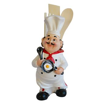"""Chef Kitchen Utensil Wood  Spoon Tool Holder 3-piece w/ porcelain """"bowl"""""""