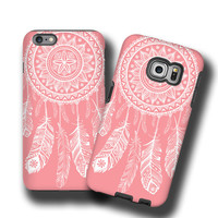 Coral white iPhone 6s case Dream Catcher iPhone SE case iPhone 5c case iPhone 5 tribal Samsung Galaxy S3 galaxy S4 Galaxy Note5 S7 Edge plus