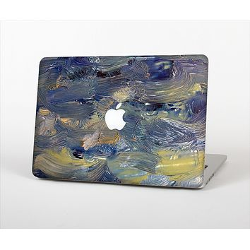 """The Blue & Yellow Abstract Oil Painting Skin Set for the Apple MacBook Air 13"""""""