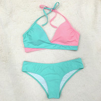 Cupshe Hit Refresh Contrast Color Bikini Set