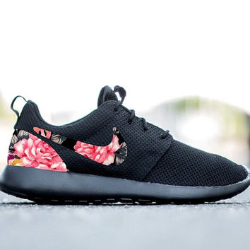 Nike Roshe Run One Custom Pink Floral Print