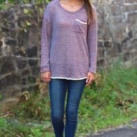 Fall Into Me Sweater {Purple}