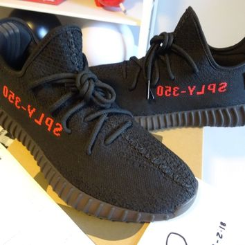 Come With Box NEW Adidas Yeezy Boost 350 V2 Black Red CP9652 SZ 12 -2017 DS IN HAND w/receipt
