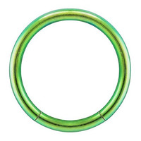 Green Anodized Stainless Steel Segment Cartilage Lip Ring Septum 14G 3/8""