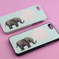 Elephant Balloon--iPhone 5 Case,iphone 4 case,best iphone case in durable black or white plastic