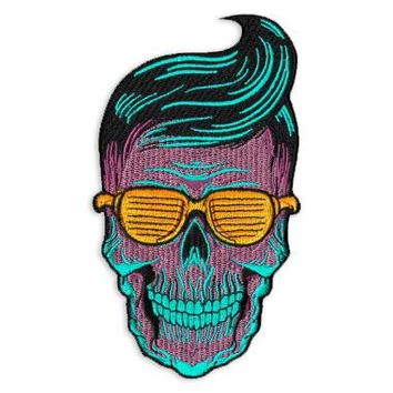 Greaser Skull Patch