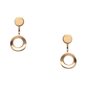 Say Oh Gold Circle Earrings